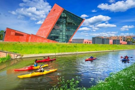 Kayaks at the Museum of the Second World War in Gdansk