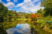 """Постер, картина, фотообои """"Осень на озере в Arashiyama"""""""