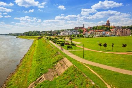 Old town of Tczew at Vistula river