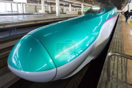 Shinkansen train on the platform of Tokyo