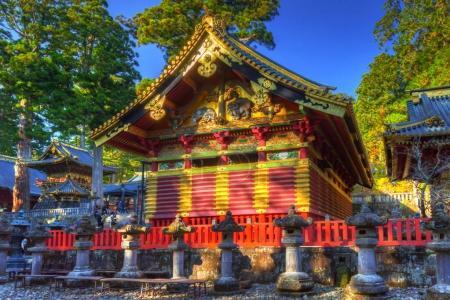 Architecture of Toshogu Shrine temple in Nikko
