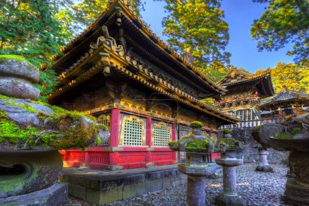 Architecture of Toshogu Shrine temple in Nikko