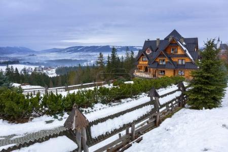 Winter scenery in Tatra mountains