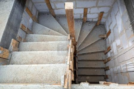 Concrete construction of the stairs