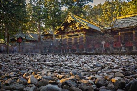Architecture of Toshogu Shrine temple in Nikko, Japan