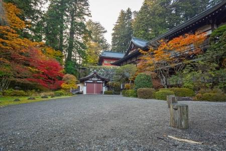 Architecture of Toshogu Shrine temple in Nikko, Japan