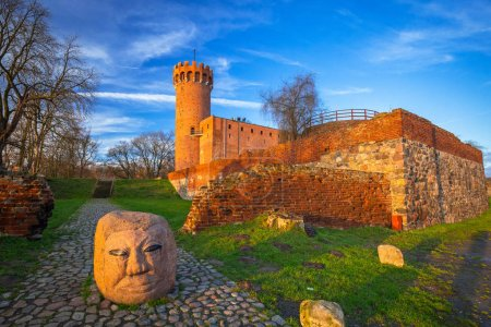 SWIECIE, POLAND - DECEMBER 10, 2017: Architecture of theTeutonic Castle in Swiecie, Poland. The medieval castle is part of a complex built by the Teutonic Knights.