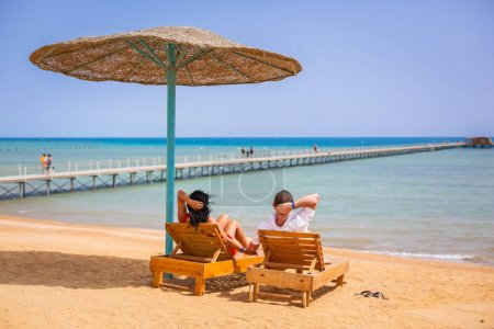 Couple on romantic holidays at Red Sea in Egypt