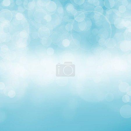 Photo pour Fond abstrait bokeh bleu - image libre de droit