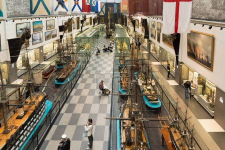 St. Petersburg, Russia - June 02. 2017. Top view Interior of Naval Museum in Kryukov Barracks