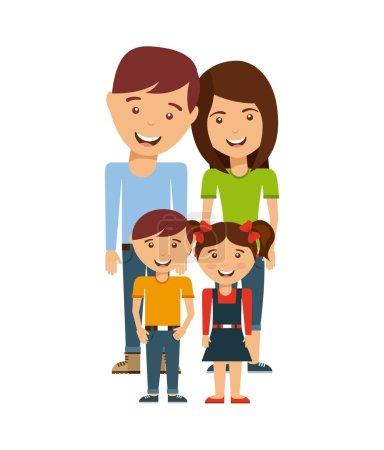 happy family members concept