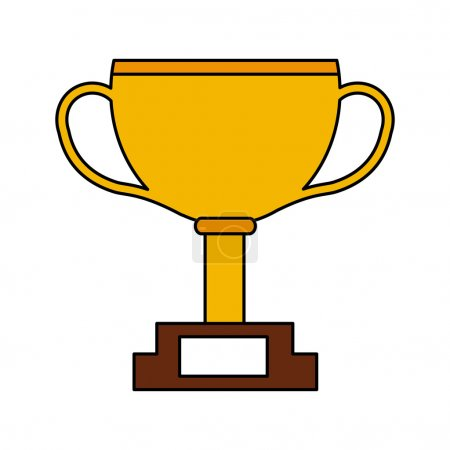 trophy winner championship isolated
