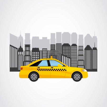 Illustration pour Service de taxi illustration vectorielle de transport public design - image libre de droit