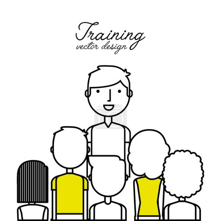 training concept flat icons