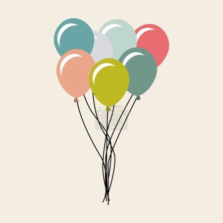 Illustration pour Ballons air party célébration vectoriel illustration conception - image libre de droit