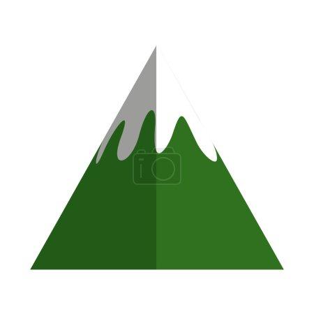 Mountain peak ice icon