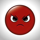 cartoon anger red emoticon graphic