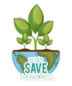world with plant lets save the world