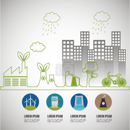 environmental issues infographic elements