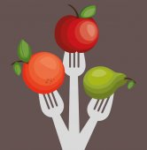 Nutrition healthy food isolated icon vector illustration design