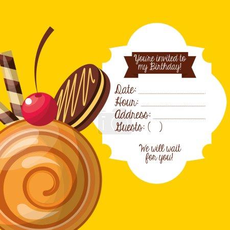 happy birtday invitation card