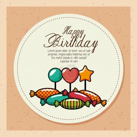 happy birthday celebration card