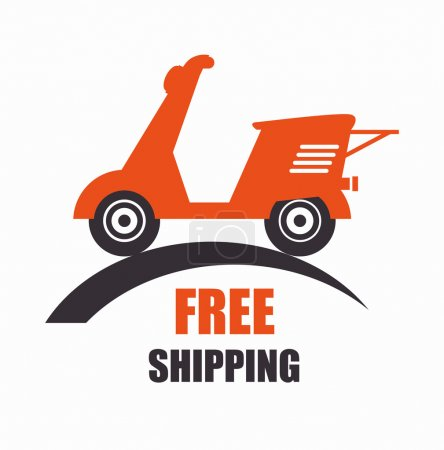 Motorcycle scooter free delivery icon