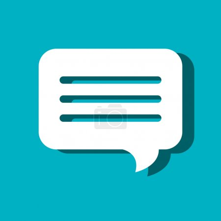 Illustration for Speech bubble communication isolated icon vector illustration design - Royalty Free Image