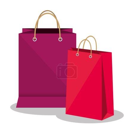 Illustration pour Sacs à provisions marché icône isolée vecteur illustration design - image libre de droit