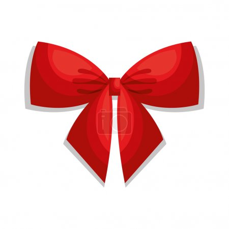 Illustration for Beautiful bow red isolated vector illustration design - Royalty Free Image