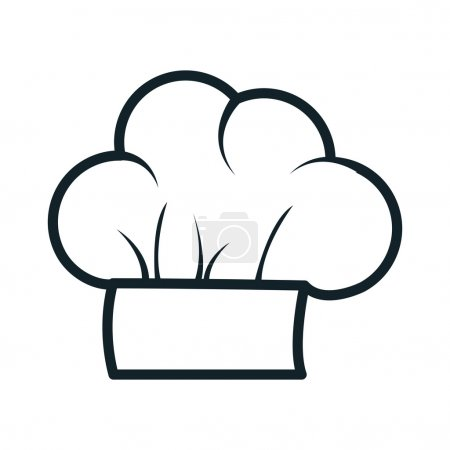 icon hat chef cooking design