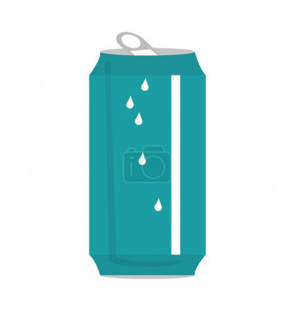 Illustration for Can soda drink isolated icon vector illustration design - Royalty Free Image