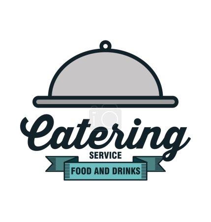 Illustration pour Icône restauration service conception alimentaire vecteur illustration eps 10 - image libre de droit