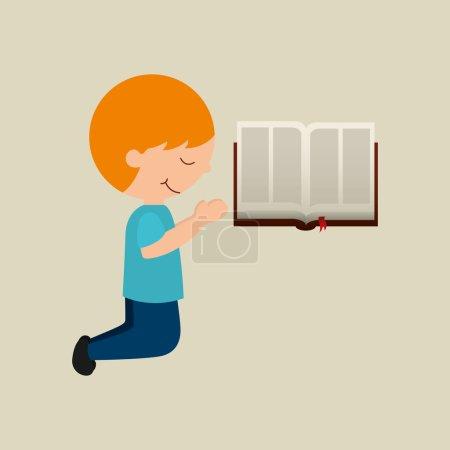 boy cartoon blesssed open bible graphic