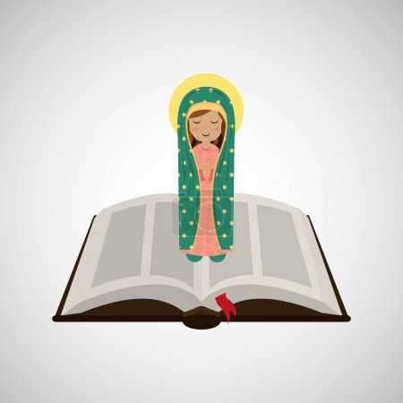 virgin mary guadalupe blessed bible design