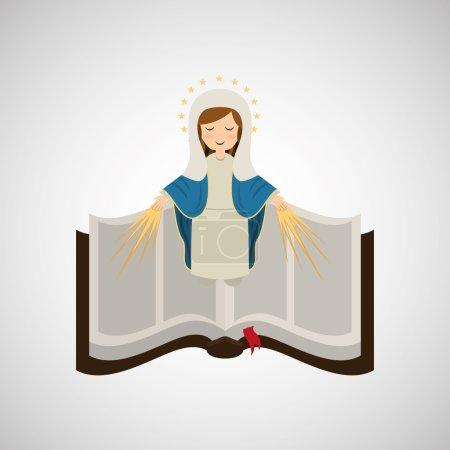 Vierge Marie conception immaculée icône de la Bible