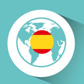 spain flag pin map design