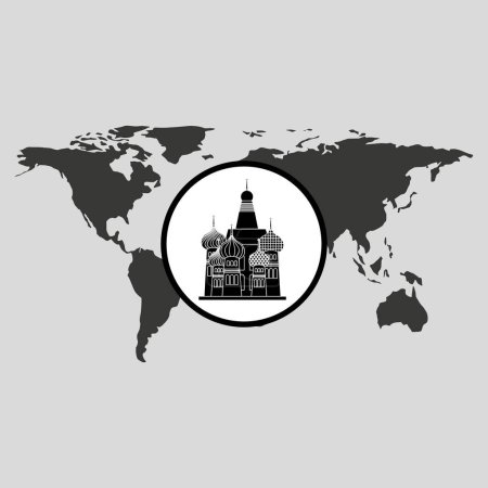 traveling russia monument design graphic