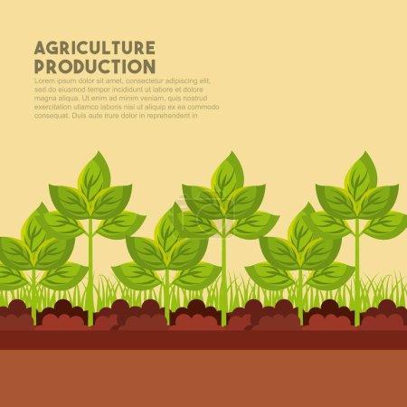 Illustration for Agriculture production landscape icon vector illustration design - Royalty Free Image