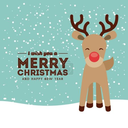 happy merry christmas card