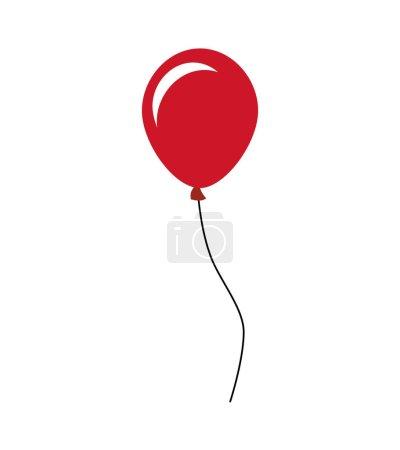 Illustration for Balloons air celebration icon vector illustration design - Royalty Free Image