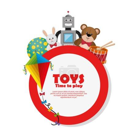 Illustration pour Enfants jouets ensemble icônes vectoriel illustration conception - image libre de droit