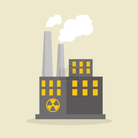 ikona na białym tle przemysłu atomowego