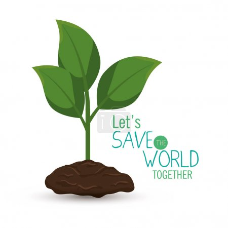 Illustration for Save the world concept icon vector illustration design - Royalty Free Image