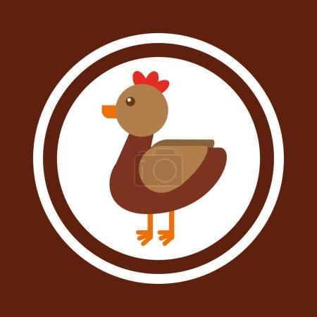 hen animal farm icon