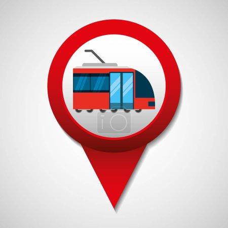 Illustration for Tram transport coveyance icon vector illustration design - Royalty Free Image