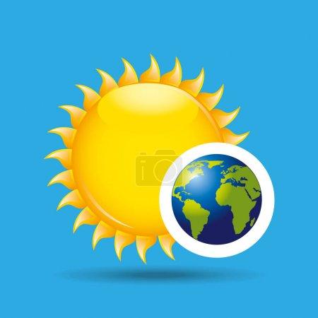 earth rotation the sun icon design