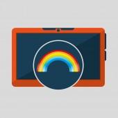 Mobilní technologie. Předpověď počasí rainbow ikonu obrázek