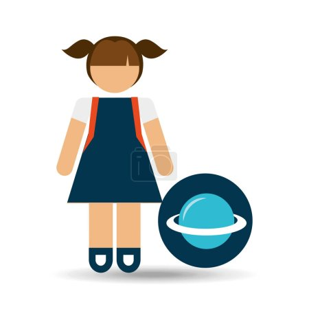 girl uniform school science physics icon