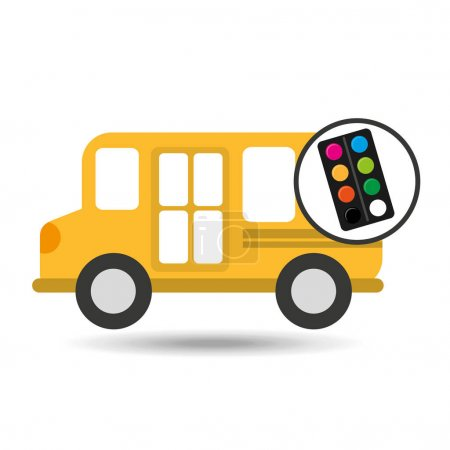 Illustration for Concept bus school palette colors desing vector illustration eps 10 - Royalty Free Image